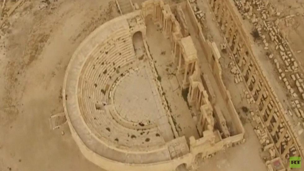 جهود روسية سورية مشتركة لترميم آثار تدمر