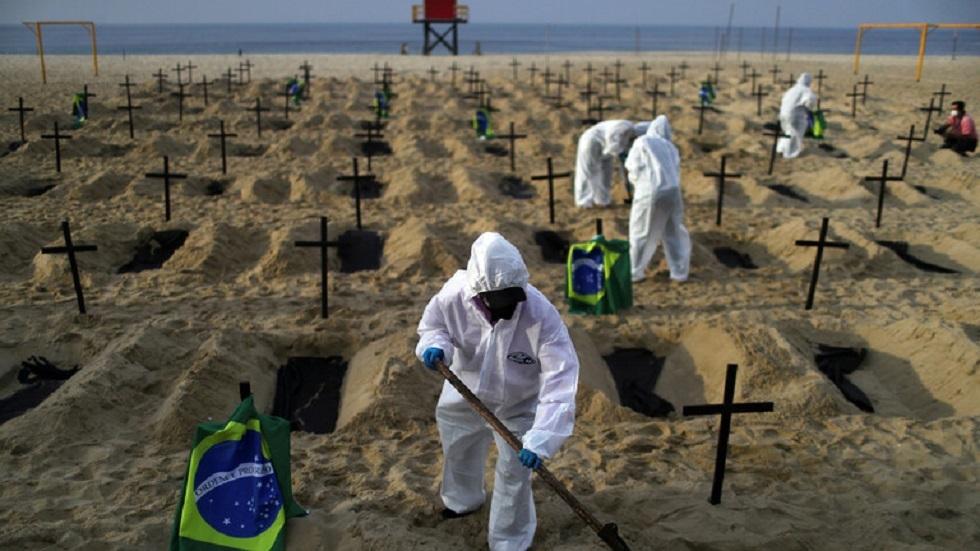 البرازيل تسجل 4249 وفاة جديدة بكورونا