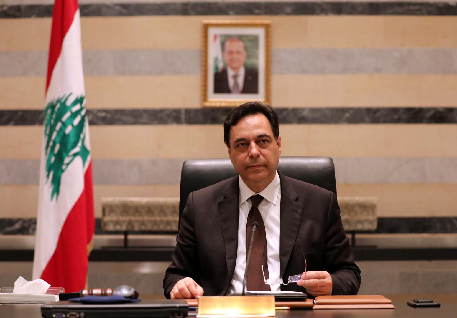 رئيس حكومة تصريف الأعمال في لبنان حسان دياب