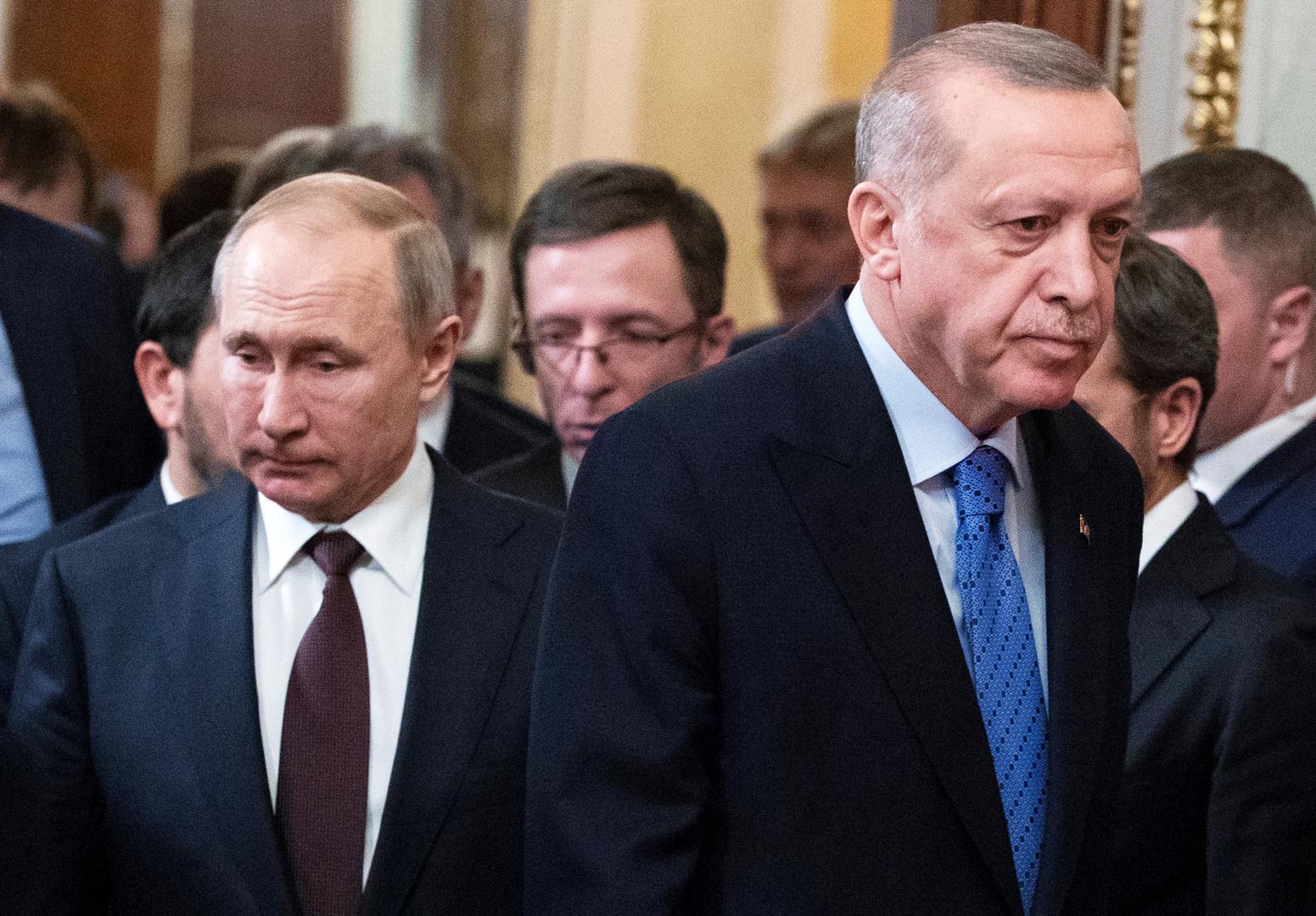 بوتين يبحث مع أردوغان أوكرانيا والبحر الأسود وسوريا وليبيا وقره باغ و