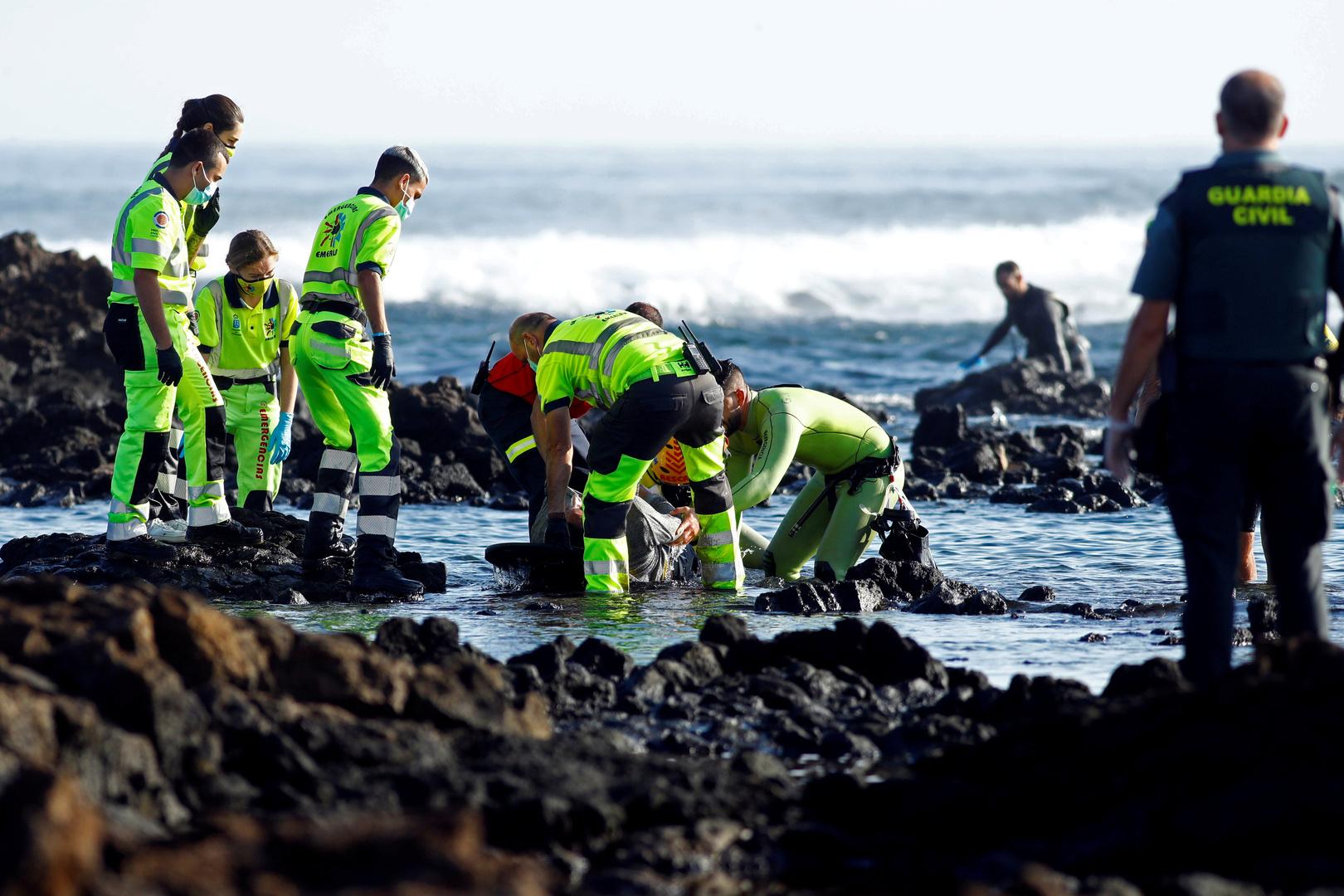 إسبانيا: توقيف 4 أشخاص على ذمة التحقيق في غرق مهاجرين