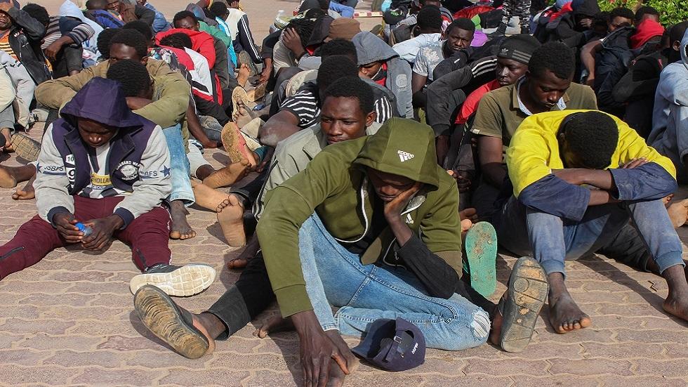مهاجرون غير شرعيين في ليبيا (صورة أرشيفية)