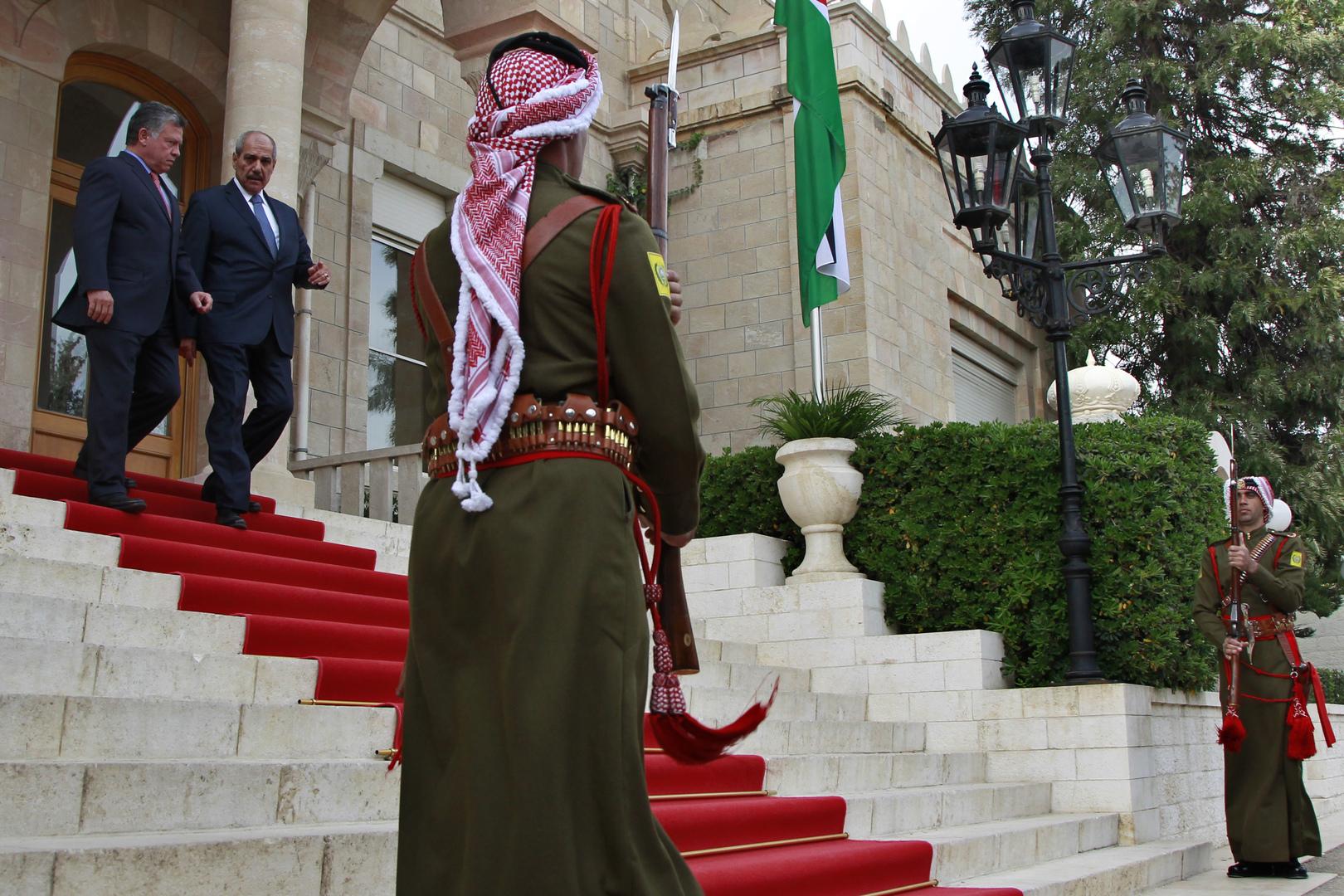 الملك الأردني عبد الله وفايز الطراونة، أرشيف