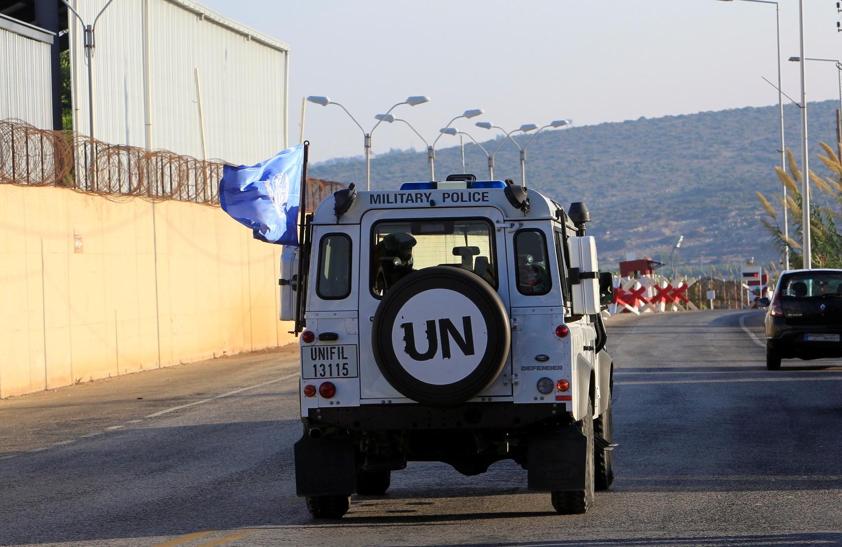 آلية تابعة للأمم المتحدة ضمن قوات اليونيفيل جنوب لبنان