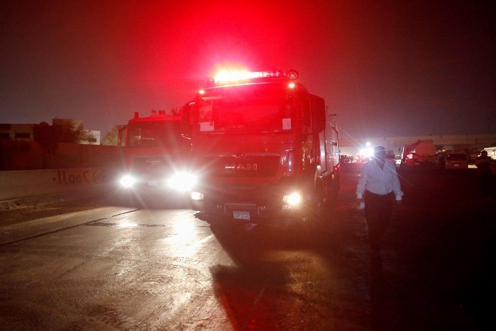 مصر.. حريق بخط للغاز في الجيزة والحماية المدنية تحاول السيطرة عليه (فيديو)
