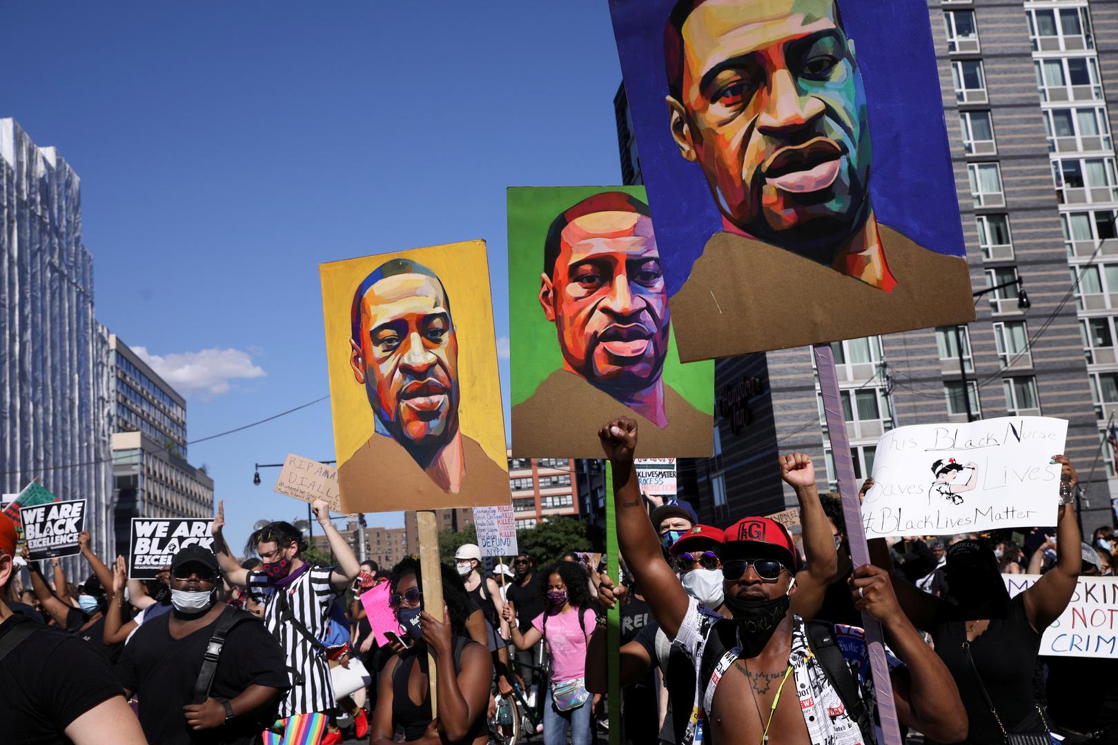 تظاهرات تطالب بالعدالة لجورج فلويد، 5-3-2021