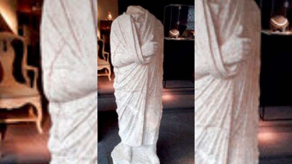 التمثال الروماني المستعاد من قبل شرطة الأثار الإيطالية