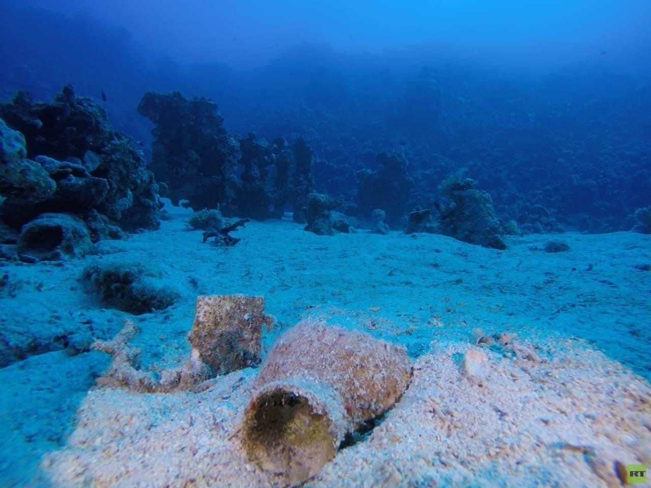 عثر على أجزاء منها عام1994.. بعثة مصرية تكشف عن مقدمة سفينة غارقة بجزيرة سعدانة بالبحر الأحمر