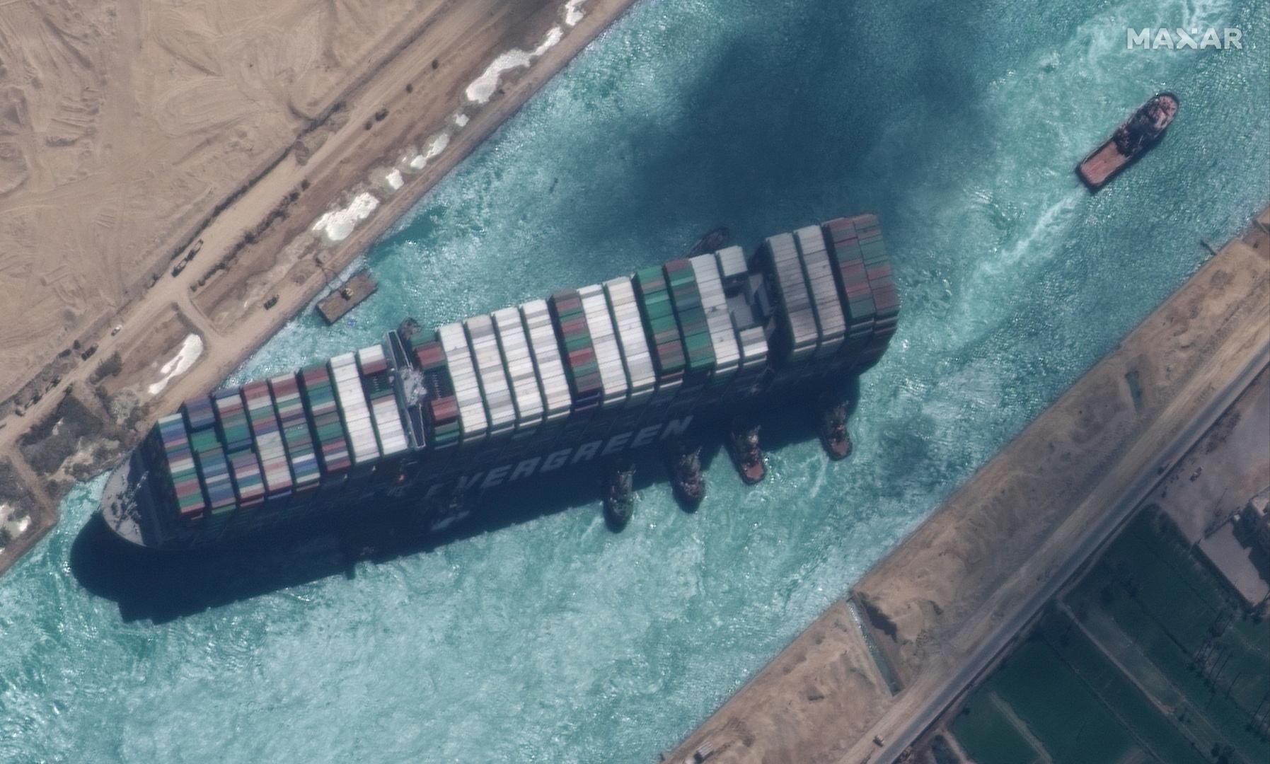 مصر.. أمر قضائي بالحجز التحفظي على السفينة الجانحة