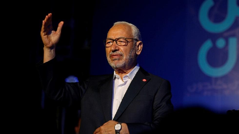 راشد الغنوشي زعيم حركة النهضة الإسلامية ورئيس مجلس النواب التونسي