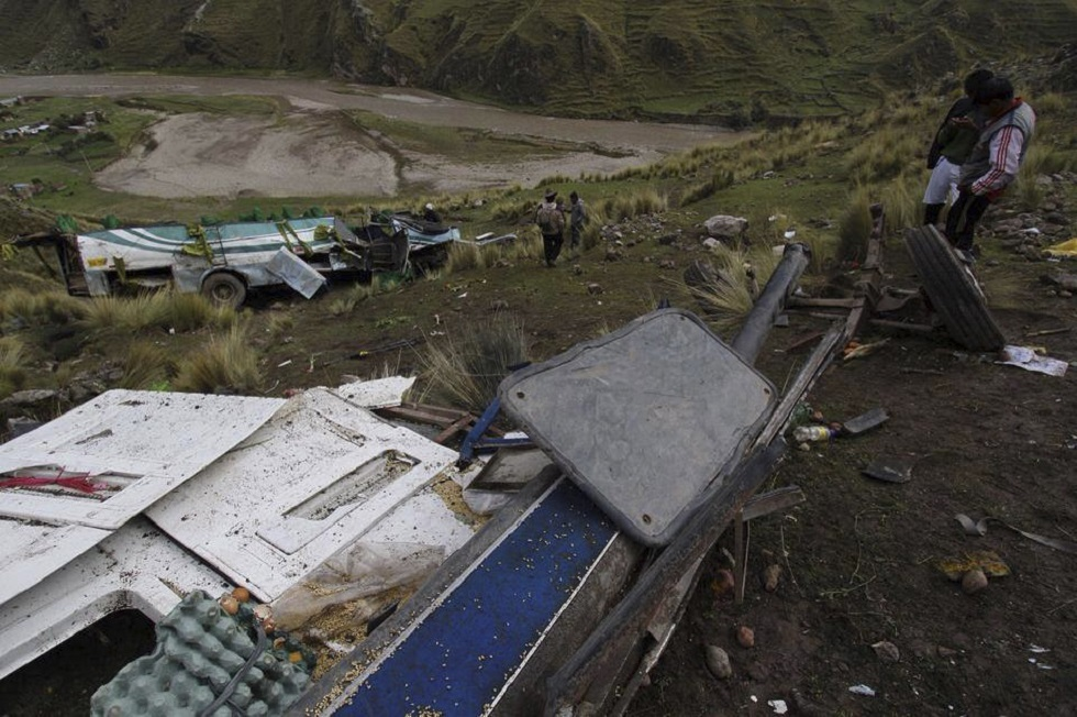 مصرع 20 شخصا بحادث مروري مروع في بيرو