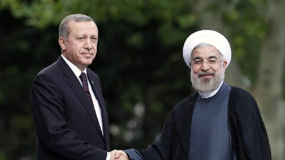 الرئيسان الإيراني حسن روحاني والتركي رجب طيب أردوغان - أرشيف