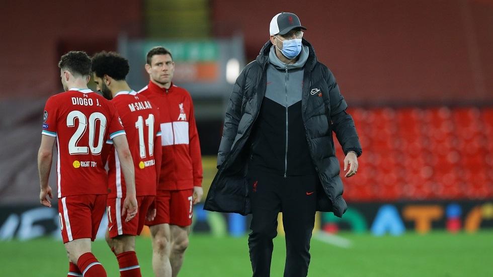 كلوب يلوم صلاح على إهدار الفرص وخروج ليفربول من دوري الأبطال