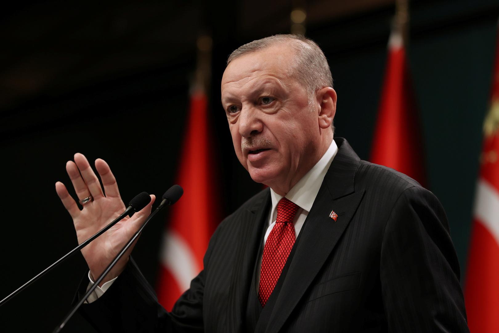 تركيا.. أردوغان يلتقي وزير الخارجية اليوناني في أنقرة