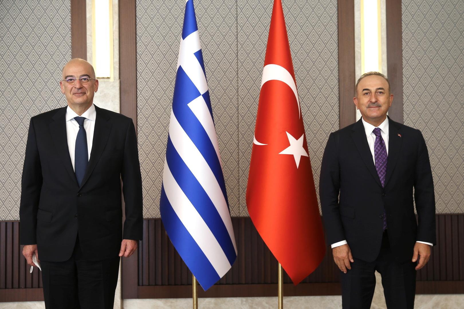 تركيا: المشاكل مع اليونان يمكن حلها عبر الحوار ونريد تحسين العلاقات دون شروط مسبقة