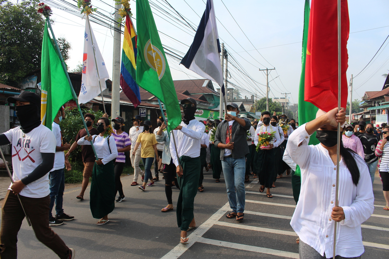 محتجون في ميانمار