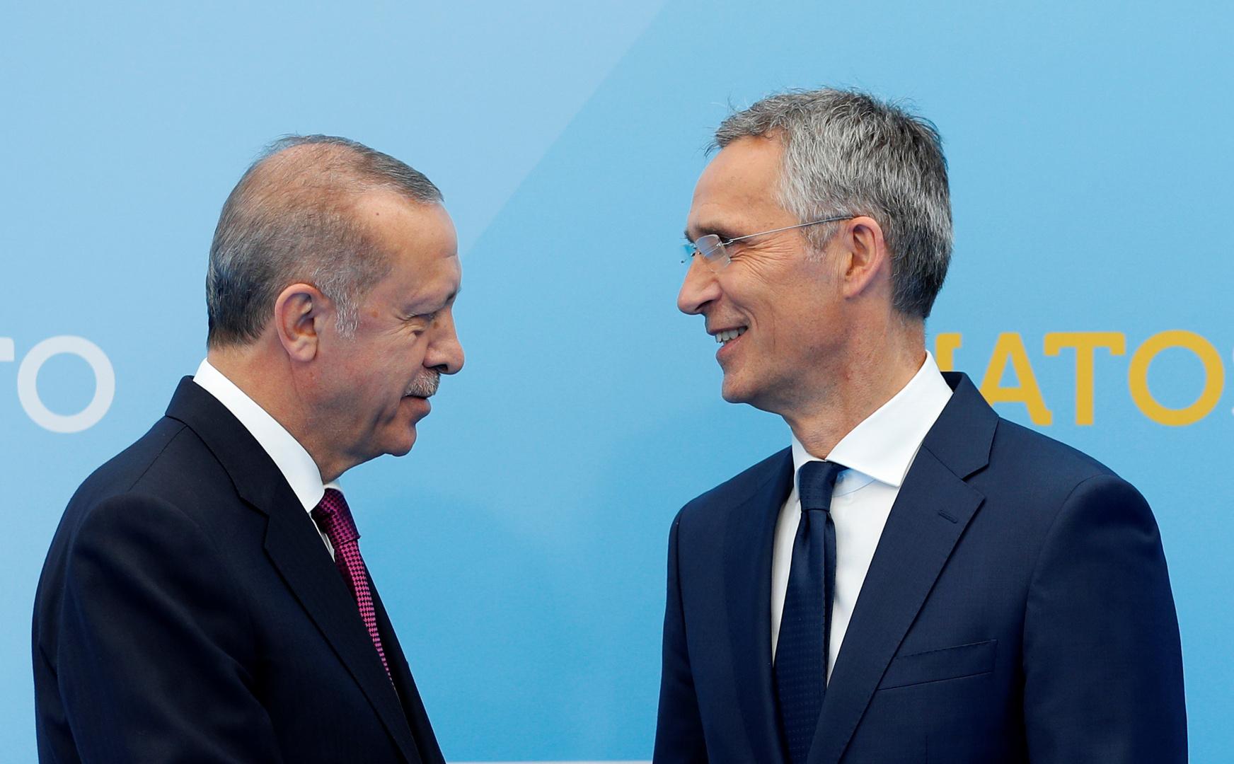 أردوغان يبحث مع الأمين العام للناتو ملفات أوكرانيا وشرق المتوسط وليبيا وأفغانستان