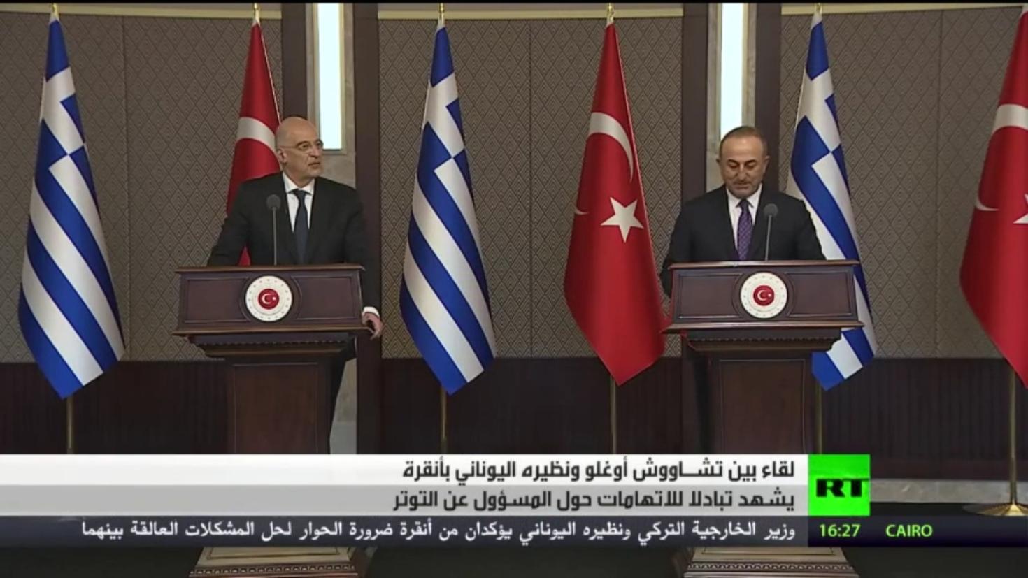 أنقرة وأثينا.. حل الخلافات وتبادل الاتهامات