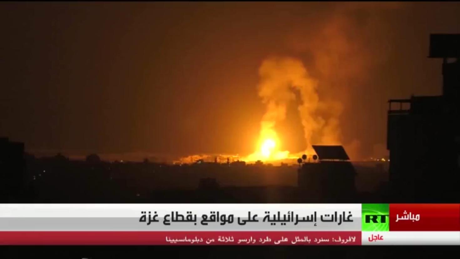 غارات إسرائيلية تسـتهدف مواقع في قطاع غزة