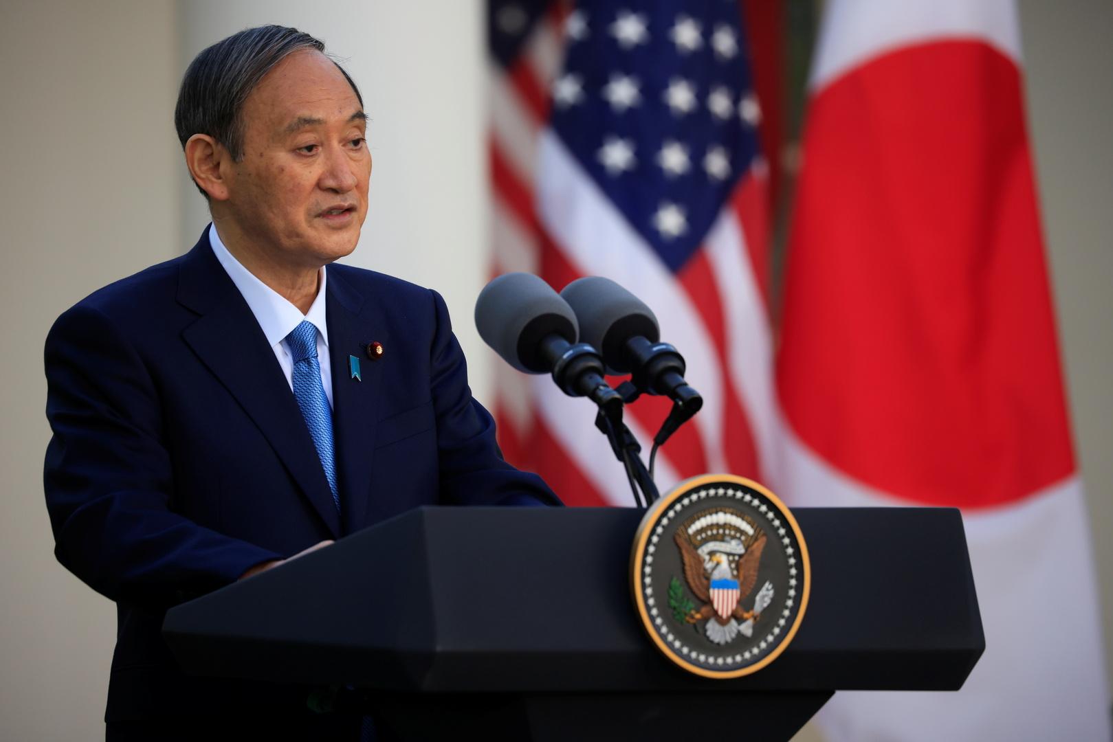 رئيس الوزراء الياباني، يوشيهيدي سوغا.