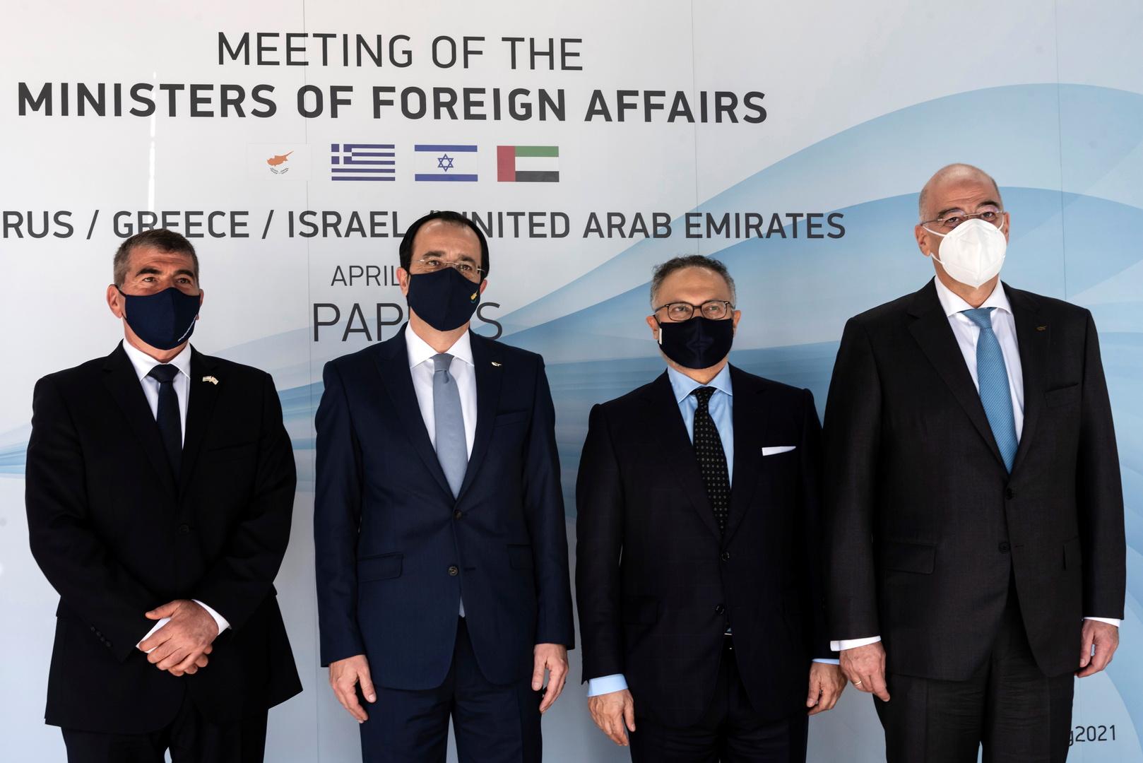 الخارجية اليونانية: الشراكة بين الإمارات وإسرائيل مهمة جدا لكل دول المنطقة