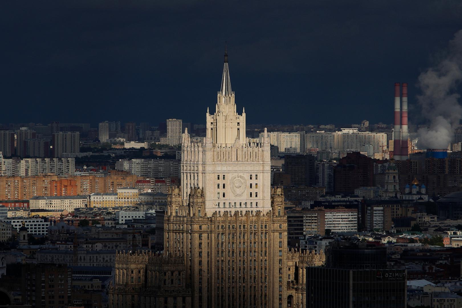 الخارجية الروسية تستدعي القائم بالأعمال الأوكراني بعد توقيف القنصل في بطرسبورغ
