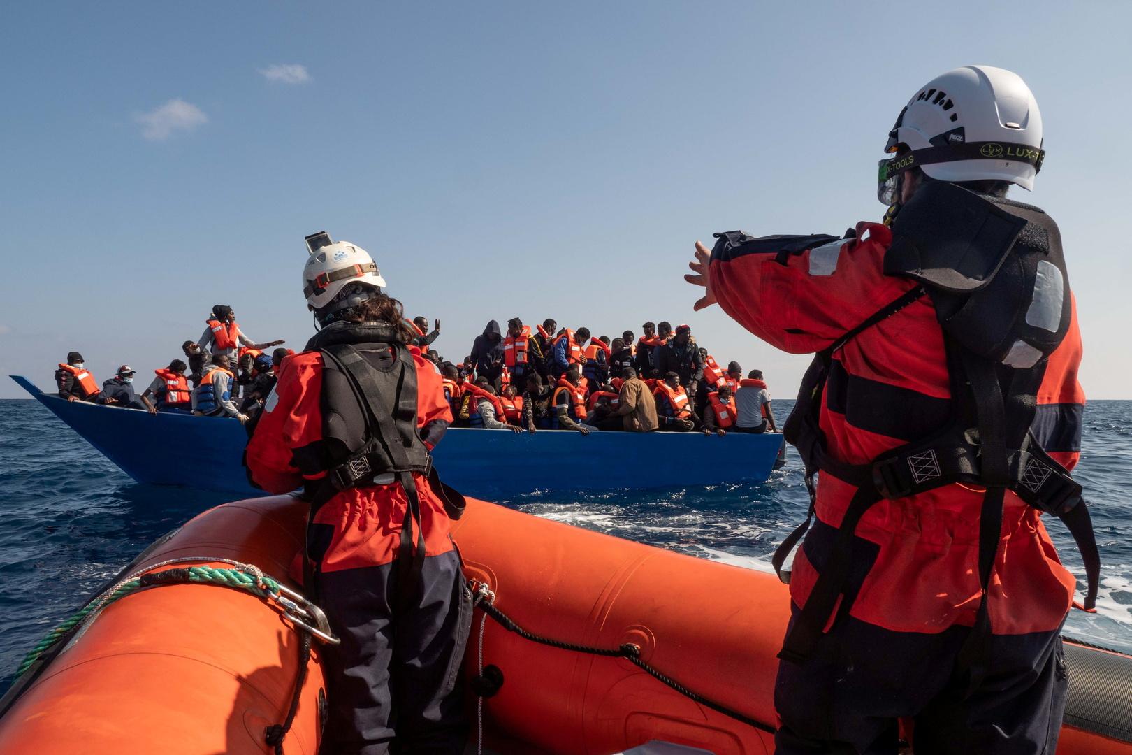 مهاجرون في البحر الأبيض المتوسط