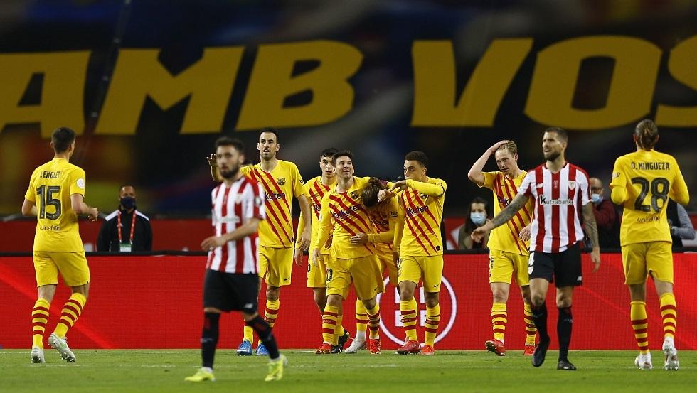 شاهد.. أهداف برشلونة في شباك بيلباو في نهائي كأس ملك إسبانيا