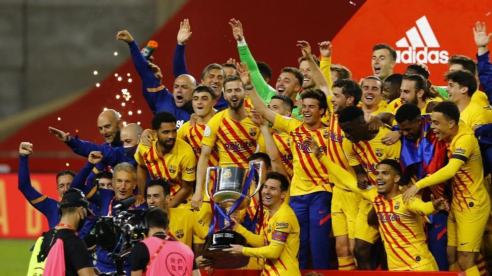 برشلونة يكتسح أتلتيك بيلباو ويتوج بلقب بطل كأس ملك إسبانيا (فيديو)