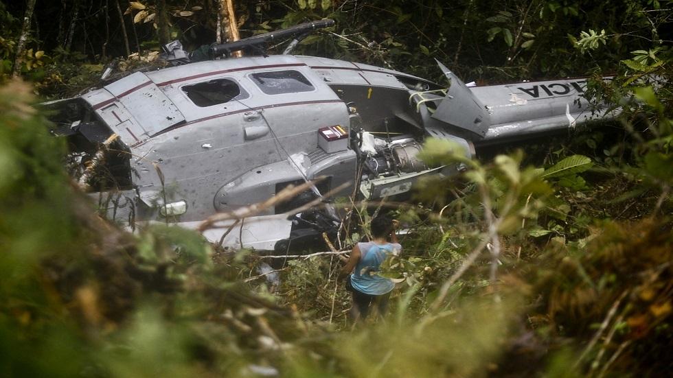 بيرو.. مقتل خمسة جنود في تحطم طائرة مروحية