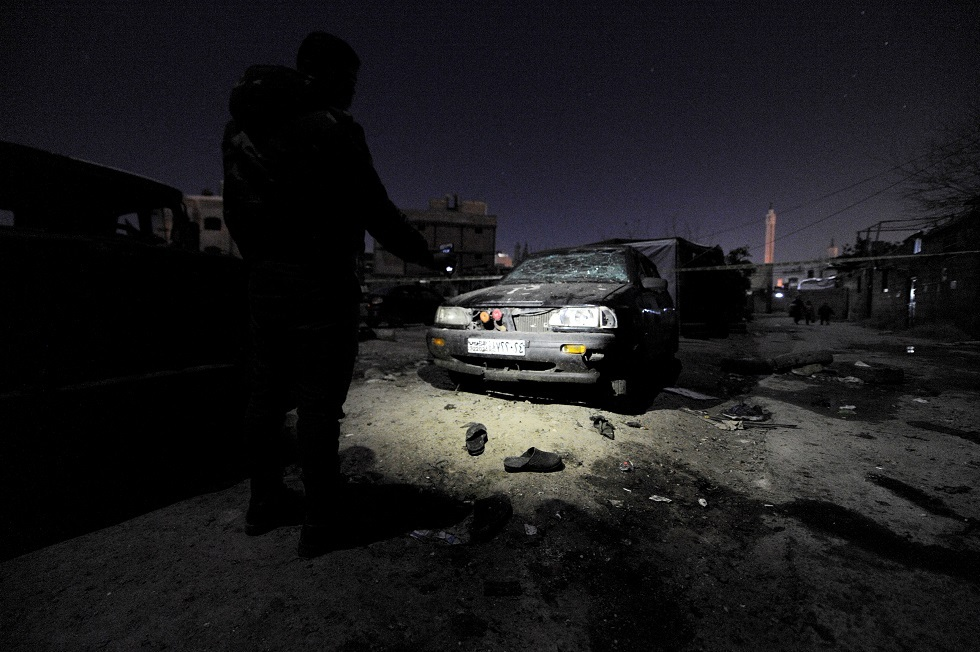 آثار انفجار في دمشق -أرشيف-