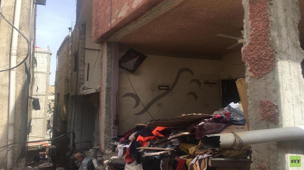 انفجار المزة بدمشق .. وفاة طفلة وعدة بيوت مهددة بانهيار