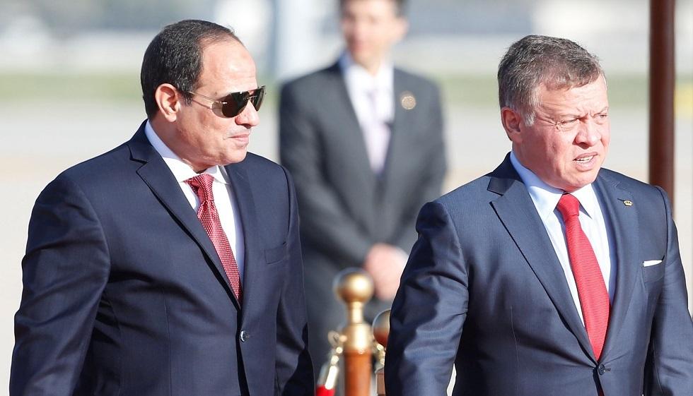 ملك الأردن عبد الله الثاني والرئيس المصري عبد الفتاح السيسي