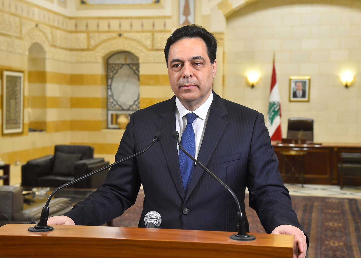دياب: لبنان في خطر شديد واستنفذنا ما لدينا من إمكانات