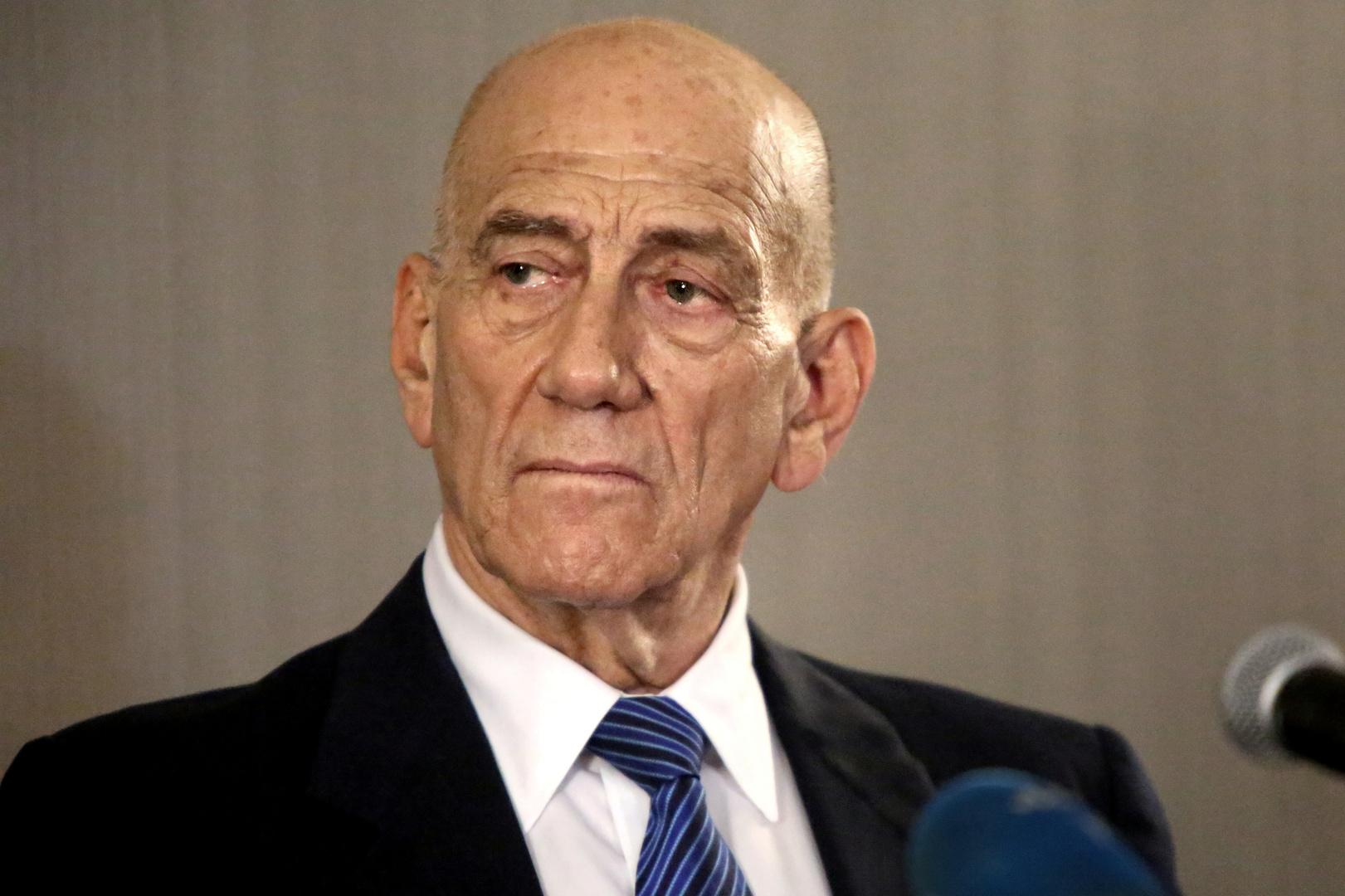 رئيس الوزراء الإسرائيلي الأسبق، إيهود أولمرت.