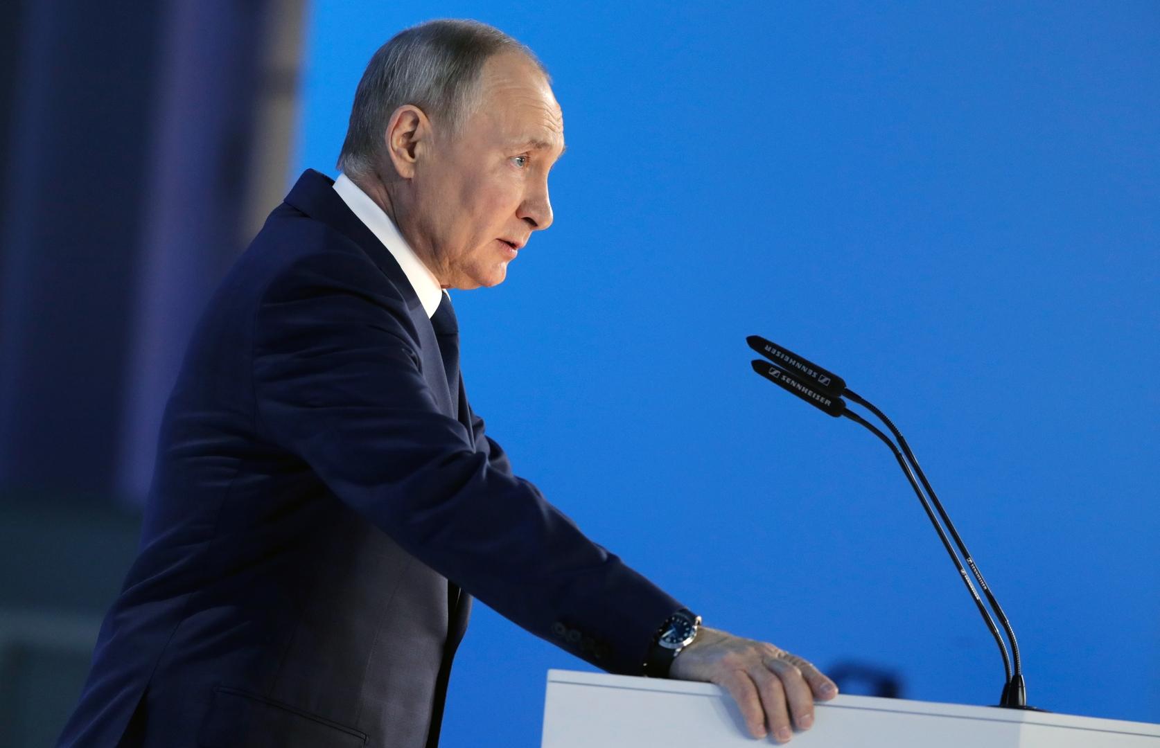 بوتين: نتوخى أقصى درجات ضبط النفس لكن مدبري أي استفزازات سيندمون ندما شديدا وردنا سيكون قاسيا