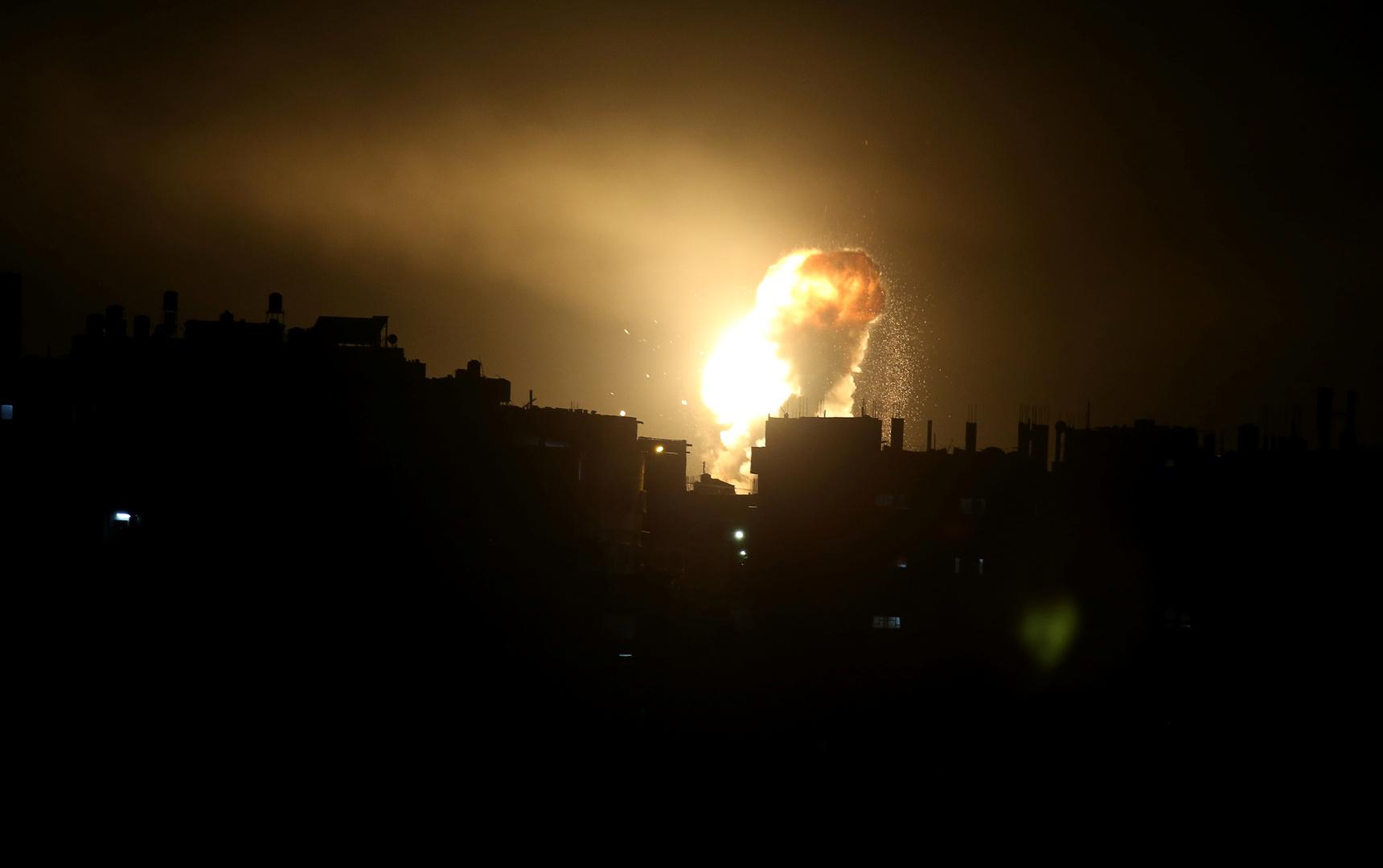 انفجار قوي يهز موقعا لاختبار الصواريخ وسط إسرائيل