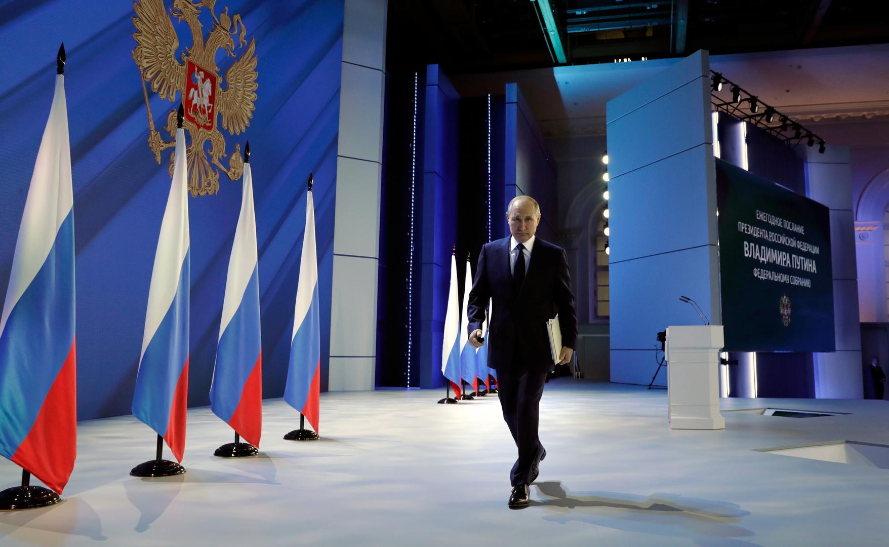بوتين يدعو شركاء روسيا الدوليين إلى تبني