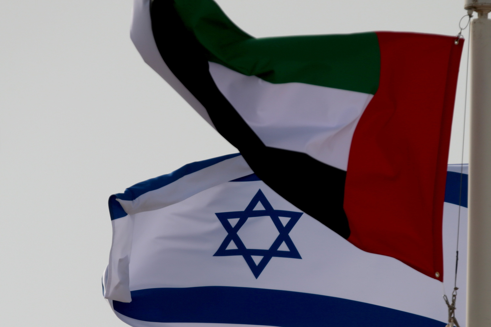 العلم الإسرائيلي والعلم الإماراتي