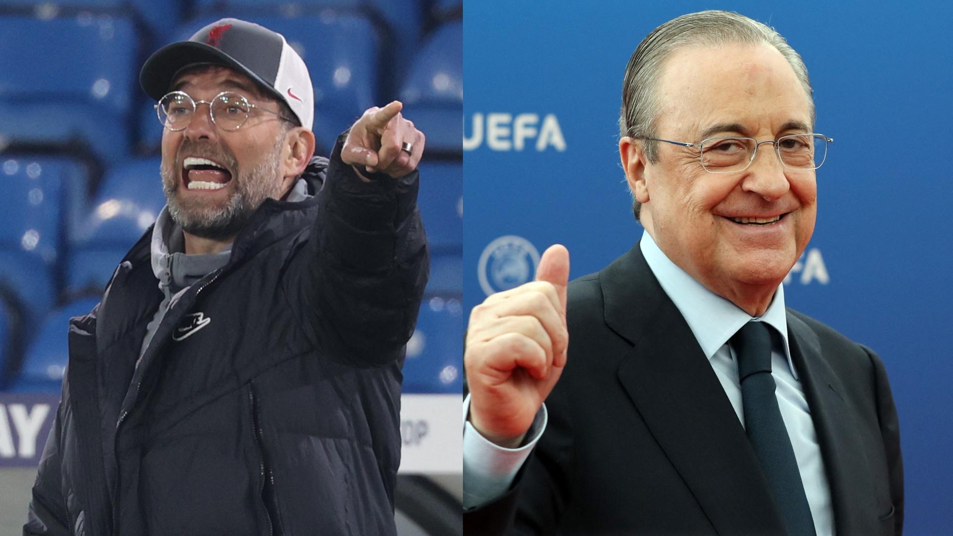 بيريز يسخر من كلوب بعد انتقاده ملعب ريال مدريد