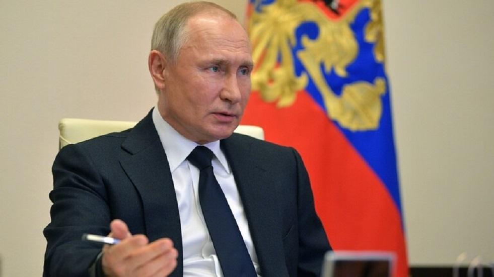 ظهور بوتين خلال بثكلمة ماكرون في قمة المناخ