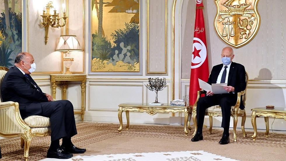 وزير الخارجية المصري يسلم الرئيس التونسي رسالة من الرئيس السيسي
