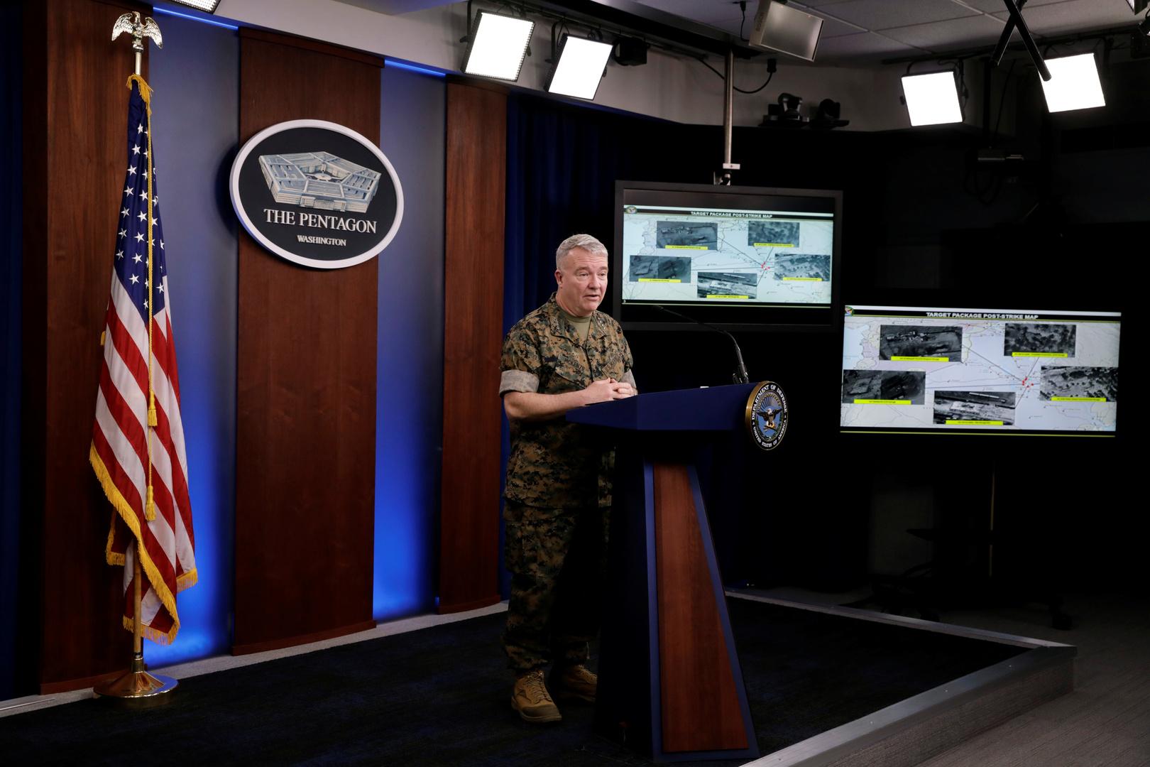 قائد القيادة المركزية للقوات المسلحة الأمريكية (سينتكوم) كينيث ماكينزي