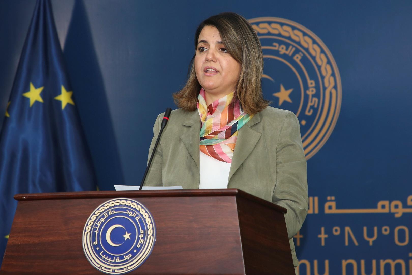 نجلاء المنقوش وزير خارجية ليبيا