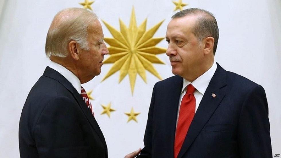 الرئيس الأمريكي جو بايدن ونظيره التركي رجب طيب أردوغان - أرشيف