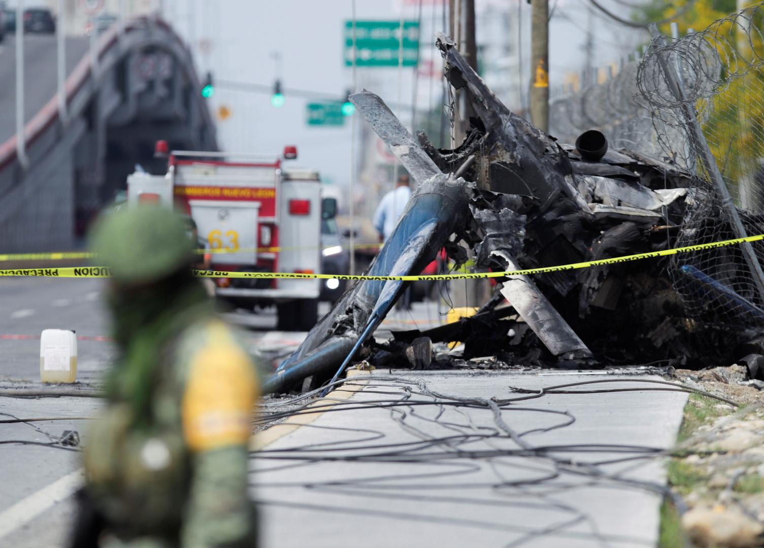 تحطم المروحية في أبوداكا بالمكسيك
