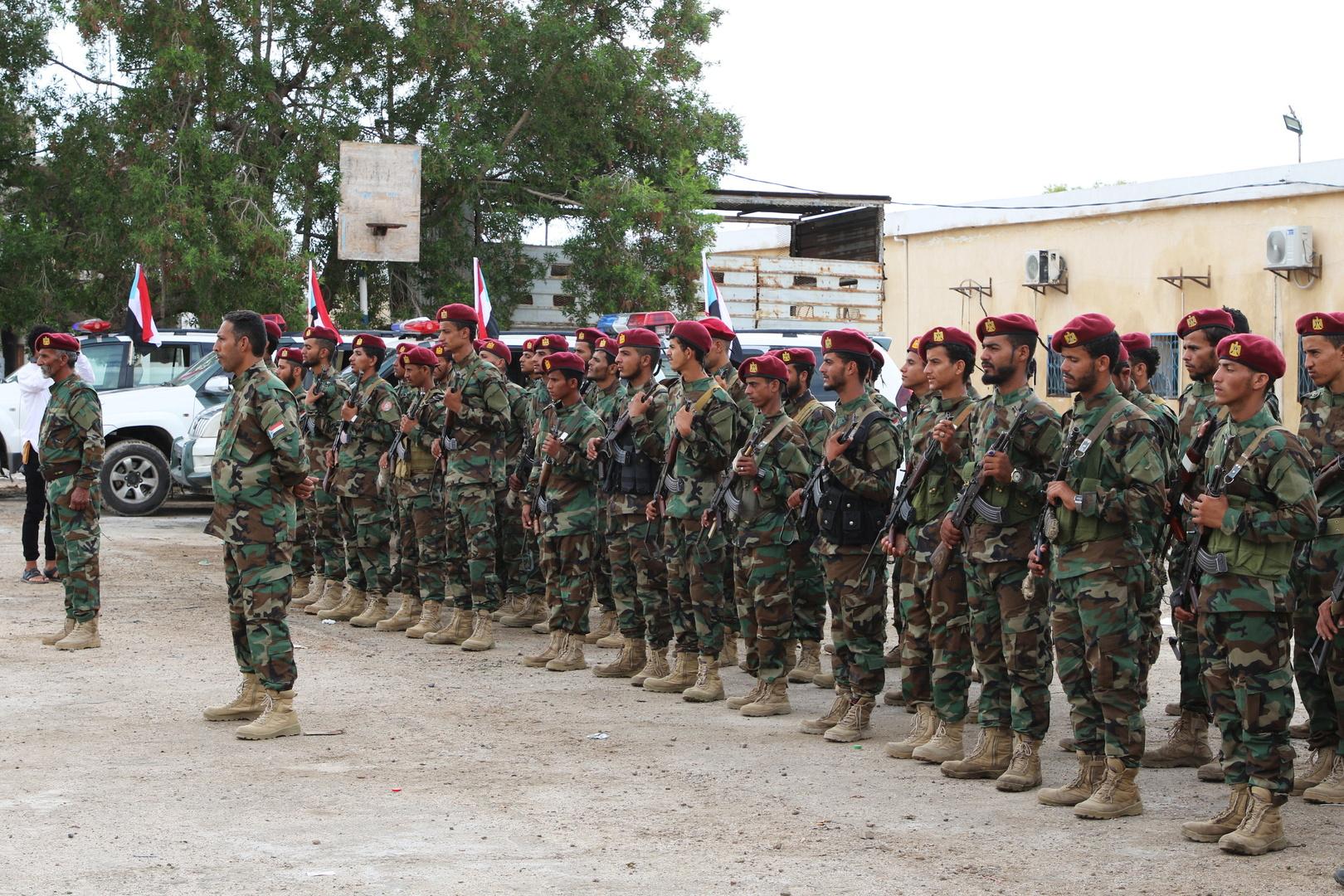 قوات الأمن الموالية للمجلس الانتقالي الجنوبي  في مدينة عدن اليمنية