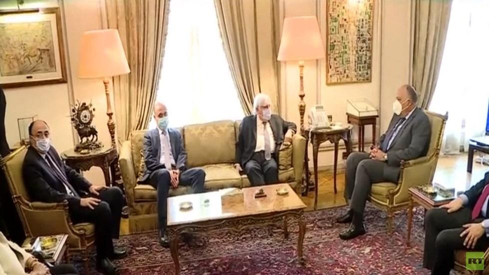 مباحثات غريفيث مع شكري في القاهرة