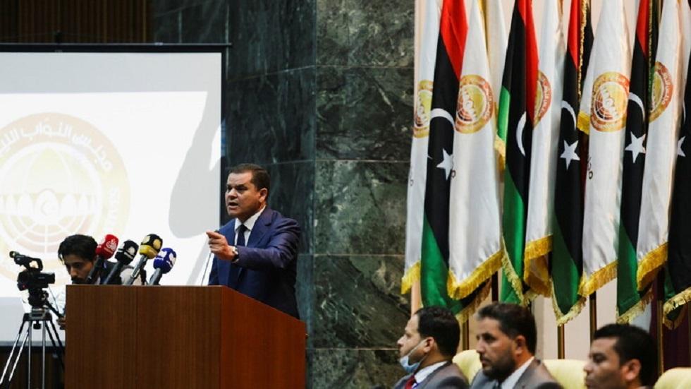 رئيس حكومةالوحدة الوطنيةالليبية عبد الحميد الدبيبة وأعضاء حكومته - أرشيف