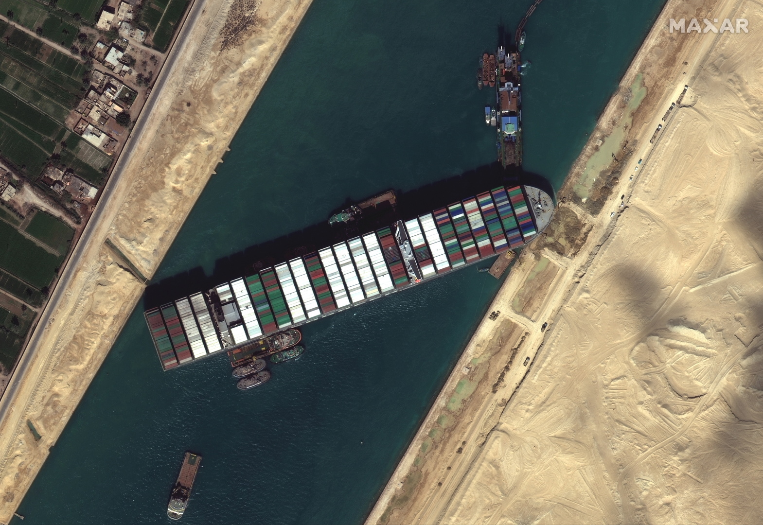 قناة السويس تعلن تطورات المفاوضات مع السفينة البنمية